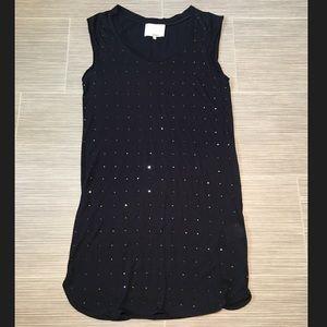 3.1 Phillip lim Navy embellished shirt tank dress